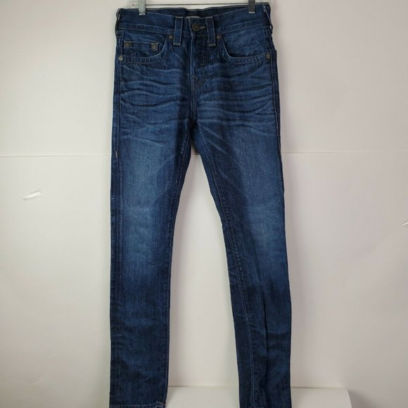 True Religion Men's Dean Tapered Jeans Slim Fit 28